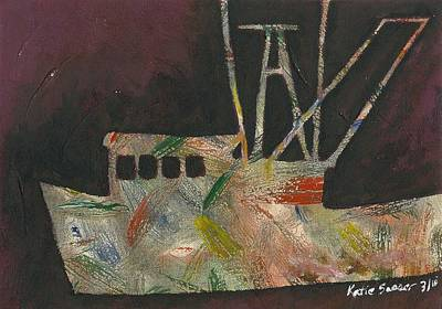Painting - Abstract Shrimp Boat by Katie Sasser