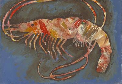 Painting - Abstract Shrimp by Katie Sasser