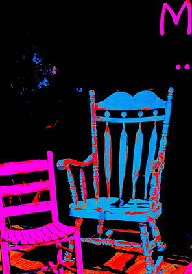 Abstract Sitdown And M Art Print by Kathy Barney