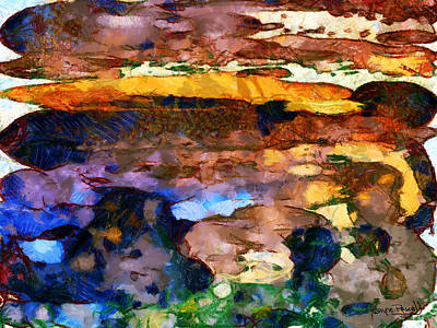 Art Print featuring the painting Abstract Skies by Wayne Pascall