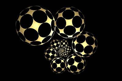Digital Art - Abstract Soccer Balls by Sandy Keeton
