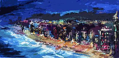 Abstract South Florida Beach Art Print