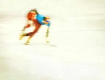 Photograph - Abstract Speed Skate by Theresa Tahara