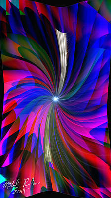Abstract - Spinner Art Print by Michael Rucker
