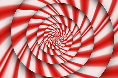 Mint Digital Art - Abstract - Spirals - The Power Of Mint by Mike Savad