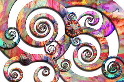 Digital Art - Abstract - Spirals - Wonderland by Mike Savad