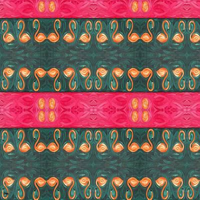 Flamingo Mixed Media - Abstract 814 by Patrick J Murphy