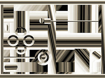 Andee Design Monochrome Digital Art - Abstract Station The Road To No Where by Andee Design