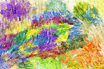 Digital Art - Abstract Strokes - Digital Colored Pencil by Debbie Portwood