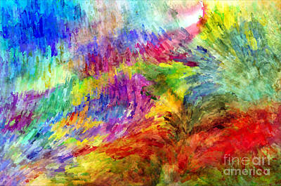 Digital Art - Abstract Strokes - Digital Paint by Debbie Portwood