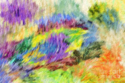 Digital Art - Abstract Strokes - Digital Pastel by Debbie Portwood