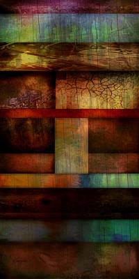 Brown Tones Digital Art - Abstract Study Five  by Ann Powell