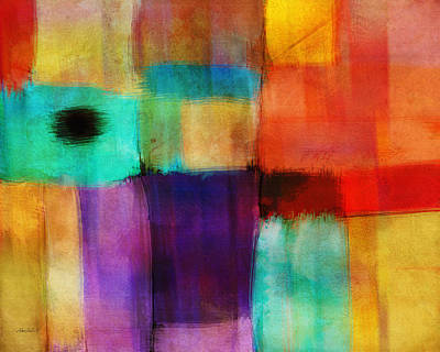 Color Block Mixed Media - Abstract Study Three By Ann Powell by Ann Powell