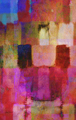 Color Block Mixed Media - Abstract Study Two by Ann Powell