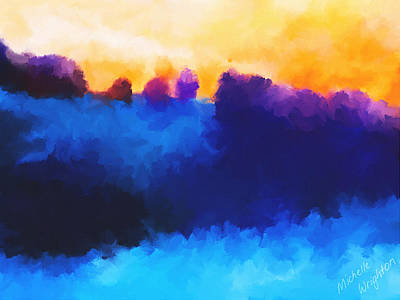 Painting - Abstract Sunrise Landscape  by Michelle Wrighton