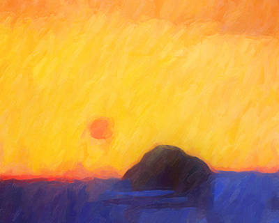 Painting - Abstract Sunset by Lutz Baar