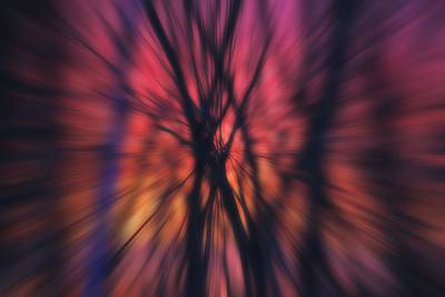 Photograph - Abstract Sunset by Michael Saunders