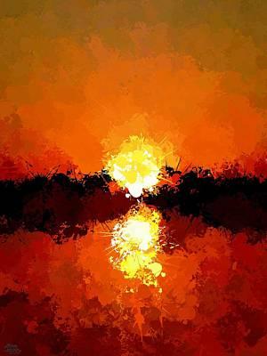 Abstract Sunset On The Sea Art Print