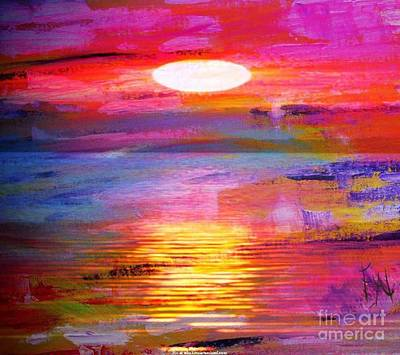 Abstract Sunset Art Print by PainterArtist FIN