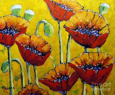 Quebec Artists Painting - Abstract Sweet Poppies By Prankearts by Richard T Pranke