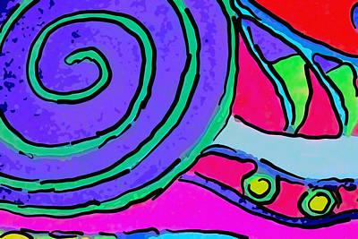 Abstract Swirl Art Print