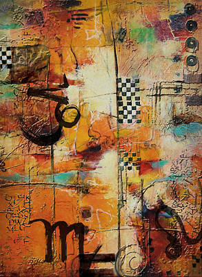 Kabbalah Painting - Abstract Tarot Art 010 by Corporate Art Task Force