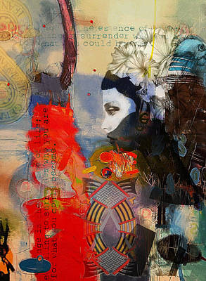 Kabbalah Painting - Abstract Tarot Art 011 by Corporate Art Task Force