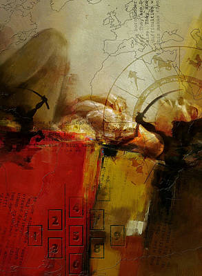 Kabbalah Painting - Abstract Tarot Art 014 by Corporate Art Task Force