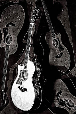 Digital Art - Abstract Taylor Guitars by Susan Stone