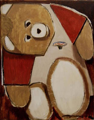 Painting - Abstract Cubism Teddy Ruxpin by Tommervik