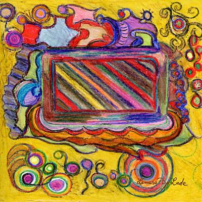 Abstract Television And Shapes Art Print