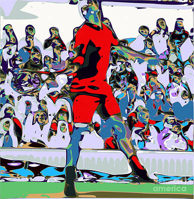 Roger Federer Digital Art - Abstract Tennis by Chris Butler