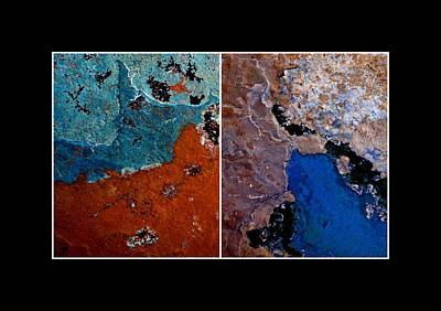 Photograph - Abstract Terrain Diptych by Patricia Strand