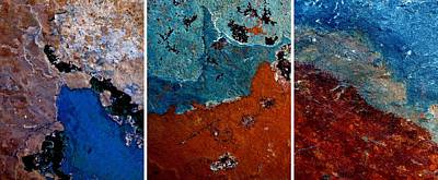Photograph - Abstract Terrain Triptych by Patricia Strand