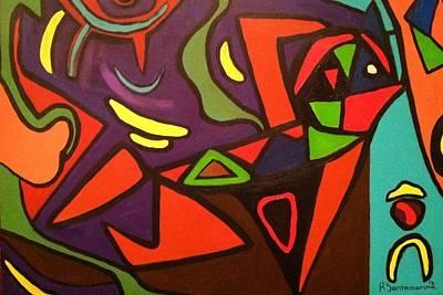 Bir Painting - Abstract Thinker by Rodrigo Santamarina