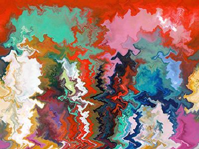 Encaustic Digital Art - Abstract  Thirteen  Of  Twenty  One by Carl Deaville