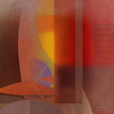 Red Abstract Drawing - Abstract Tisa Schlemm 04 by Joost Hogervorst
