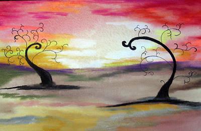 Abstract Tree #1 Art Print by Melissa Murphy