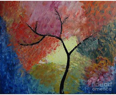 Abstract Tree Art Print by Jnana Finearts