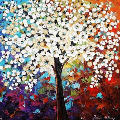 Abstract Tree Art Print by Jolina Anthony
