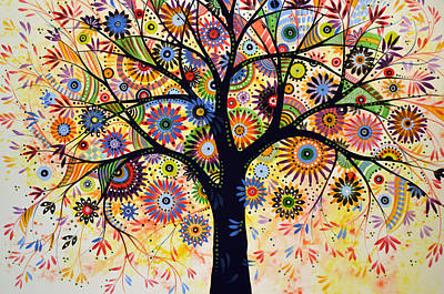 Abstract Tree Painting ... Life Giver Art Print