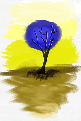 Abstract Tree Painting Art Print by Art Photography