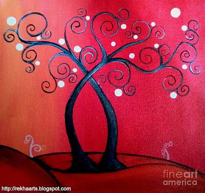 Painting - Abstract Tree Paintings by Rekha Artz