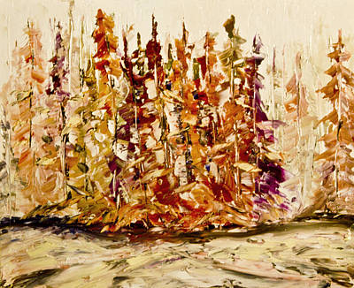 Abstact Landscapes Painting - Abstract Trees by John Stuart Webbstock