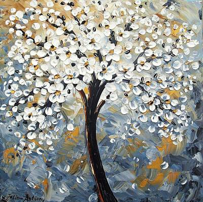 Painting - Abstract Trees by Jolina Anthony