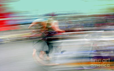 Photograph - Abstract Triathlon Runner by Patrick Dinneen