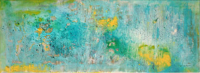 Painting - Abstract Turquoise And Yellow by Stephanie  Kriza