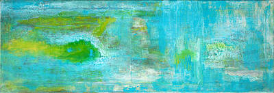 Painting - Abstract Turquoise  by Stephanie  Kriza