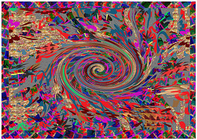 Mixed Media - Abstract Twilight Zone Colorful Dream Art by Navin Joshi