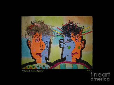 Painting - Abstract Two Curmudgeons  by Nan Wright